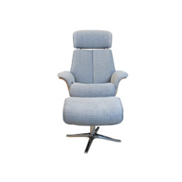 Lund Ergoform Manual Recliner Chair & Stool