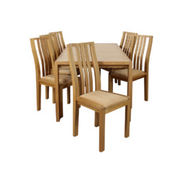 Bosco Medium Extension Table & 6 Chairs