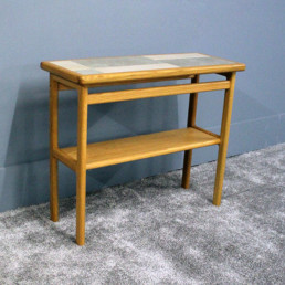 Side Table Slate/White/Oak